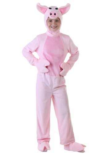 [Fun Costumes Unisex-child Big Boys' Kids Pig Costume 2x-large (18)] (Little Pig Costumes)