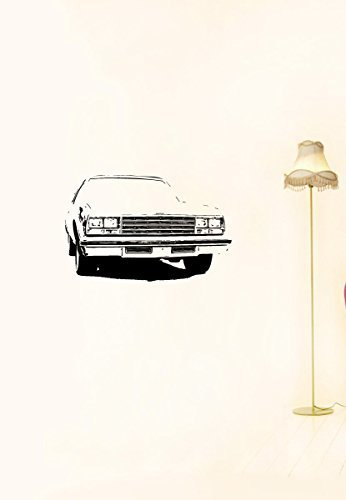 (Vinyl Decal Mural Sticker Garage American Old Car Auto Chevrolet Impala Coupe 1979 A1136)
