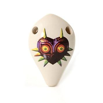 Amazon 6 hole the mask of majora ocarina inspired by legend 6 hole the mask of majora ocarina inspired by legend of zelda soprano g aloadofball Image collections