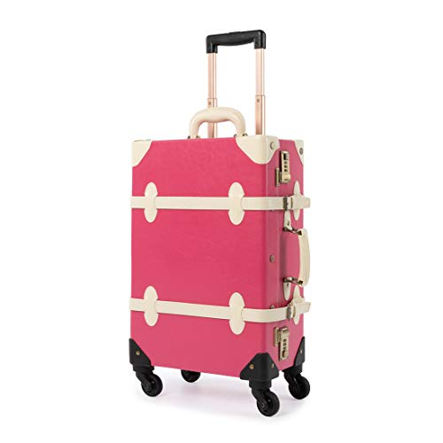 COTRUNKAGE Vintage Suitcase Sets 2 Piece Rolling Luggage with Wheels (22