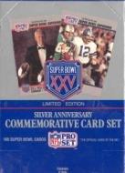 1991 Pro Set Super Bowl XXV Limited Edition Silver Anniversary Football Card Box [4 factory sets]