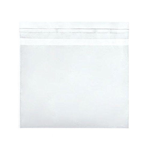 5 7/8 x 4 1/2 Crystal Clear Flap Seal, 100 pieces