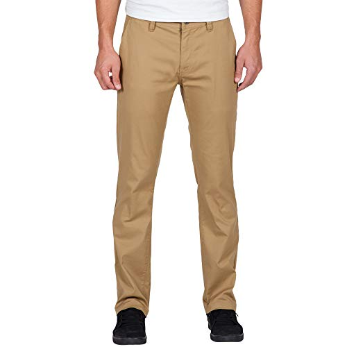 - Volcom Men's Frickin Modern Fit Stretch Chino Pant, Dark Khaki 2016, 36