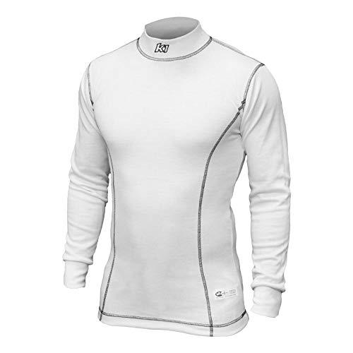 K1 RaceGear 26-PUS-W-L Premier Slim Fit Nomex Under Garment Shirt; Large (White)