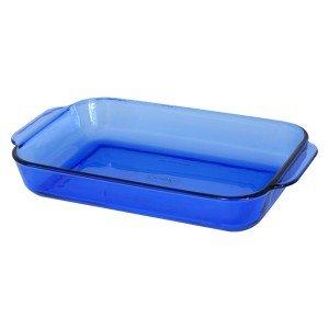 Anchor Hocking Cobalt Blue Rectangular Baking Dish ( 9 1/2'' x 13 1/2'' / 3 Quart ) ( 1040 )