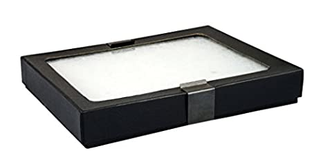 """SE JT925 Glass Top Display Box with Metal Clips, 6.25"""" x 5.25"""" x 0.75"""
