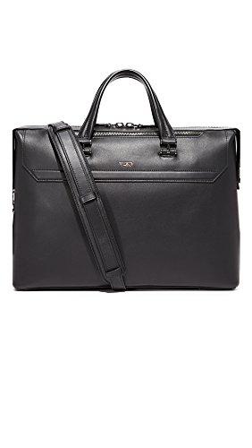 Tumi Men's Ashton Leather Gates Slim Briefcase, Black, One Size by Tumi