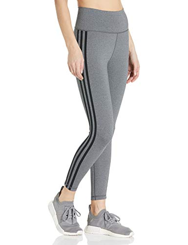 adidas Womens Designed 2 Move 3-Stripes High-Rise Long Tights