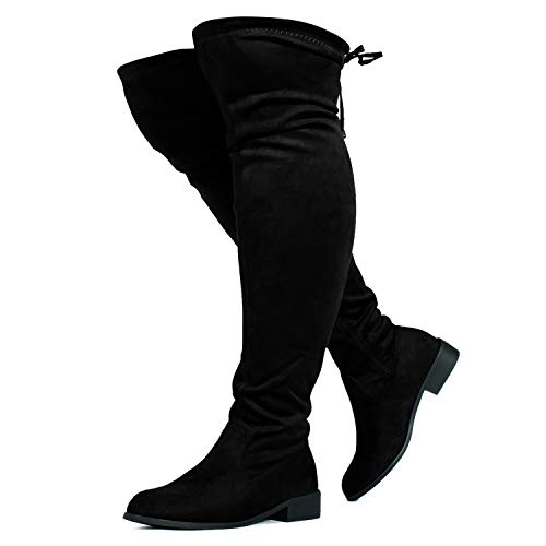 RF ROOM OF FASHION Stretchy Over The Knee Riding Boots (Wide Calf) Black SU (8)