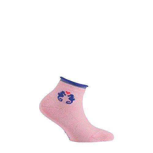 En Couple Rose D'hippocampes Achile Coton Socquettes q1BtxwY