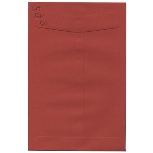 JAM Paper Open End Catalog Envelope - - 6 x 9 - Red Base - 10/pack - Open End Base