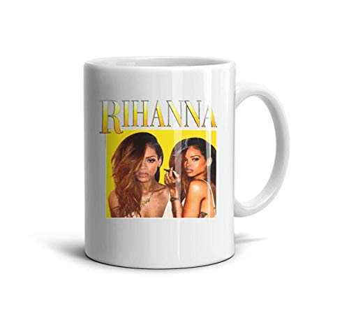 renddfaition Coffee Mug Rihanna-Halloween-Horror-Halloween- Tea Cup Travel Mug 11 oz for Brithday Gift
