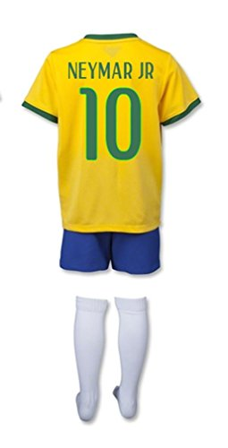 Brazil World Cup 2014 Home Mini Kit (Neymar JR 10) size YL Little Boys