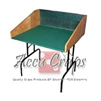 Double-sized Craps Practice Table with Legs - Traditional Underlayment