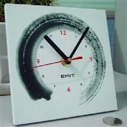 Decor Quartz Silent Wood Ink Desk Clock