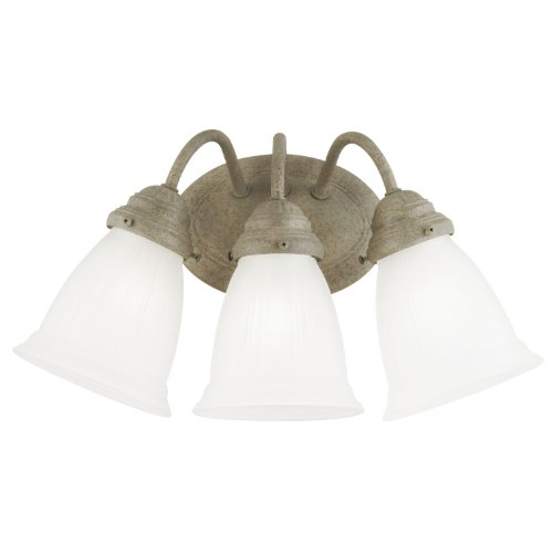 Westinghouse 6649900 Three Light Interior Wall Fixture Cobblestone Finish with Frosted ()