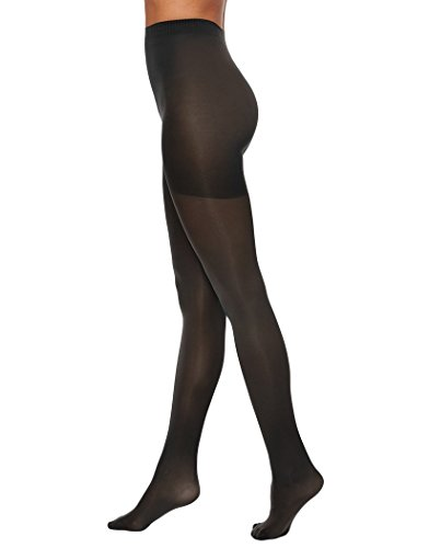 - HANES X-TEMP WOMENS TIGHTS PREMIUM CONTROL TOP 2-PK (Large, Black)