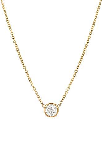 Bezel diamond necklace, 0.25ct solitaire necklace (0.25 Ct Solitaire)