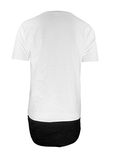 be famous SCOOPED NECK 2 PANEL LONGSHIRT, Weiß, XL