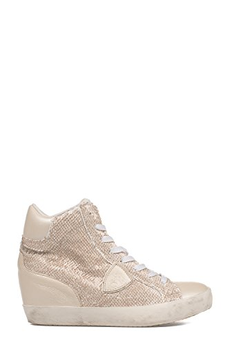 Philippe Model Hi Top Sneakers Donna PFHDLP55 Pelle Bianco