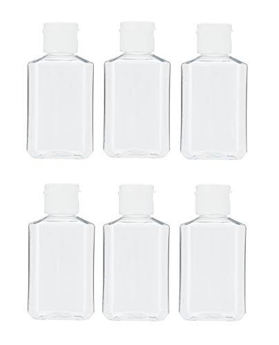 MHO Containers | Empty Clear Travel Refillable Flip-Top Bottles - BPA/No Parabens, 60millileter/2ounce - Set of ()