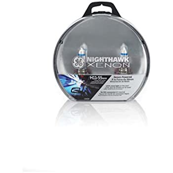 GE Lighting H11 55NHX/BP2 Nighthawk Xenon Halogen Replacement Bulb, 2-Pack