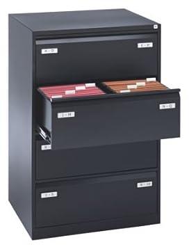 Bisley archivador para carpetas colgantes – dos filas con cajones – gris claro – Armario Armario