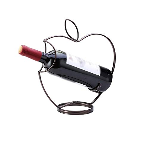 Nosterappou Wine rack decoration, wine rack display rack wine rack, alloy plating process, ingenious design, living room creative wrought iron porch decoration, bottom bottle design, more beautiful an ()