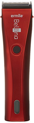 Ermila 1870 Bellina velvet-red Premium Cordless Hair Clipper with Lithium-Ion Technology 100-240V by Ermila