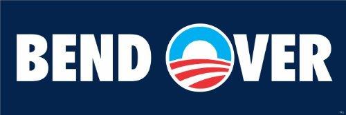 Anti Obama Bend Over Political Bumper Sticker