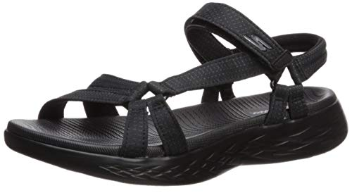 Skechers Performance Women's on-the-Go 600-Brilliancy Sport Sandal, black, 11 M US (Women Sketcher Boots Size 11)