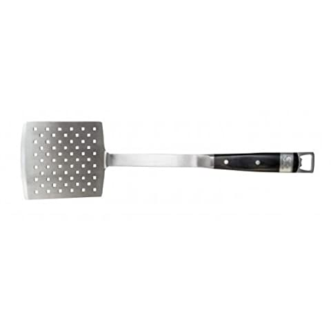 Steven Raichlen Best of Barbecue Forged Stainless and Packwood Spatula - Stevens Steel Bar
