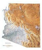 Arizona Wall Map (Arizona Topographical Wall Map by Raven Maps, Laminated Print)