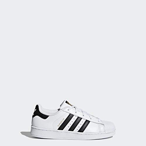 adidas Originals Kids' Superstar Foundation EL C Sneaker, White/Black/White, 3 M US Little Kid (For White Star Shoes All Girls)