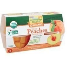 Peaches, 95% organic, Diced, Cups , 4/4oz (pack of 6 ) by Field Day