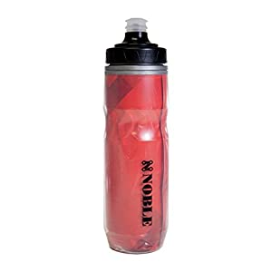 Large Sports Water Bottle 23 oz insulated plastic squeeze water bottle with lid ideal for cycling running and walking - Easy to sip and attach to bike - leak proof cap - insulation keeps water cooler