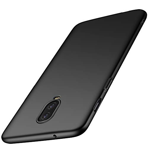 ORNARTO OnePlus 6T Case, 1+6T Thin Fit Shell Premium Hard Plastic Matte Finish Non Slip Full Protective Anti-Scratch Cover Cases for OnePlus 6T(2018) 6.41Smooth Black