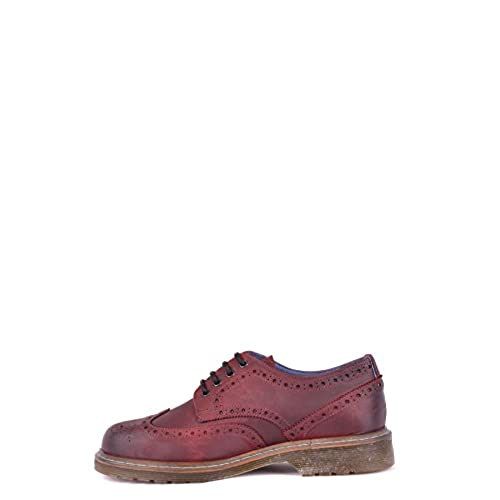 Philippe Model Men's MCBI238032O Burgundy Leather Lace-Up Shoes delicate