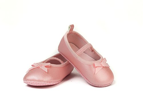 FRILLS Light Pink Ballet Flat Shoe for Newborns and Toddlers- The perfect versatile shoe for your ballerina princess! (0-6 M / 10cm - length, 6cm - width) (Outlet Primo Grill)