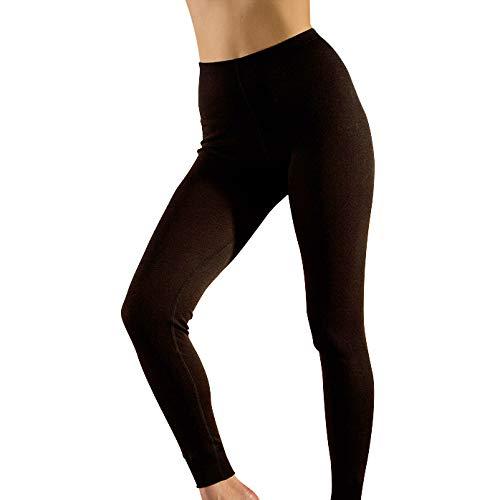 Hocosa Women's Long-Underwear Pants in Wool-Silk Blend (46/US 16, Black)