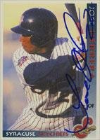Jose Herrera Syracuse Skychiefs - Blue Jays Affiliate 1998 Grandstand Autographed Card - Minor League Card. This item comes with a certificate of authenticity from Autograph-Sports. Autographed