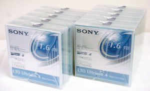 10 Pack Sony LTX800G LTO Ultrium-4 Data Tape (800/1.6TB) by Sony Electronics Inc.