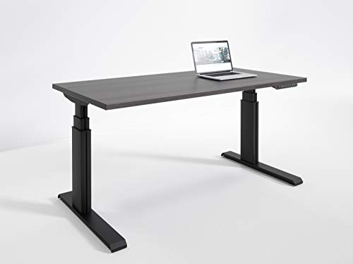 RightAngle NXTAAS244824BDW Elegante Electric Height Adjustable Standing Desk Commercial Grade, Made in USA, 24 x 48 inches, ()