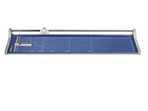 Dahle 558 Professional Rolling Trimmer, 51 1/8'' Cut Length, 12 Sheet, Large Format, Commercial, Self-Sharpening Blade, Cuts in Either Direction, Automatic Paper Clamp by Dahle
