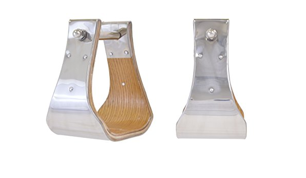Partrade Trading Company Equi-Sky 2 3//4in Wide Slanted Aluminum Stirrups