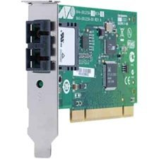32 BIT 100MBPS FAST ETHERNET FIBER ADAPTER CARD; SC CONNECTOR; INCLUDES BOTH STA - from Allied Telesis