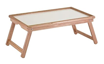 Furniture Detour Bed And Lap Tray Genuine Wood   Foldable Legs