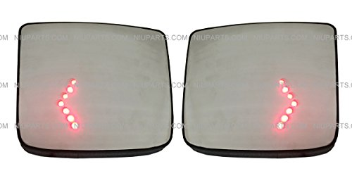 Door Mirror Wide Angle Convex with Turn Heating Circuit LH & RH ( Fits: 2004-2015 Volvo VNL Trucks Mirror.)