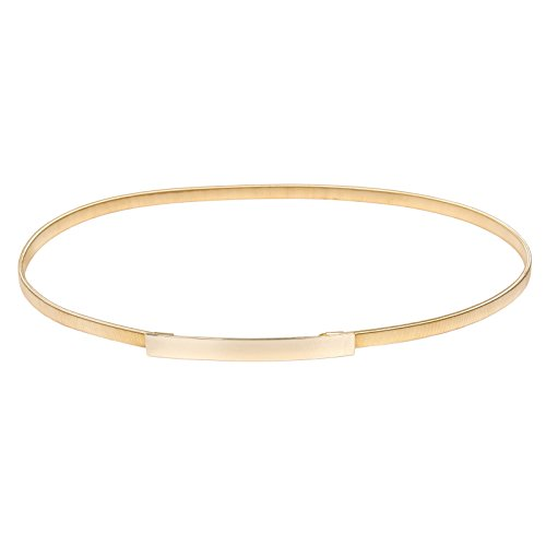 Women Plus Size Stretchy Waist Belt Gold Waistband Size XL Gold CL633 ()