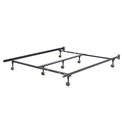 Rails Iron Bed - Classic Brands Hercules Universal Heavy-Duty Metal Bed Frame | Adjustable Width Fits Twin, Twin XL, Full, Queen, King, California King